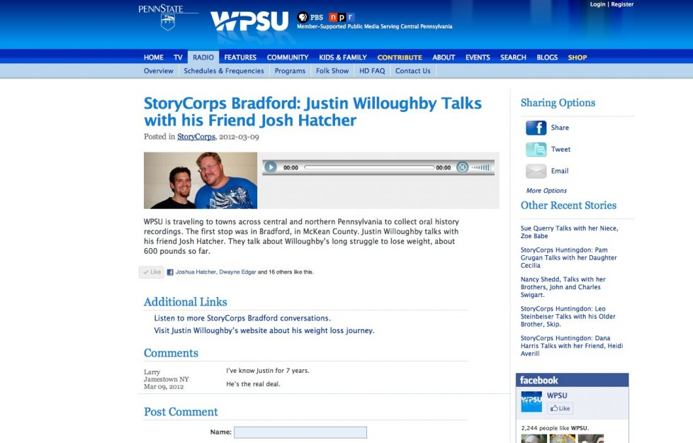 Catch Justin on StoryCorps!